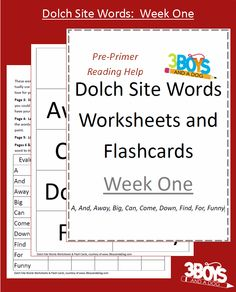 Check out the newest post (Dolch Sight Words Worksheets:  Week One) on 3 Boys and a Dog at http://3boysandadog.com/2014/01/dolch-sight-words-worksheets-week-one/?Dolch+Sight+Words+Worksheets%3A++Week+One