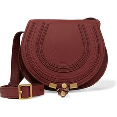Chloé The Marcie mini textured-leather shoulder bag ($645) ❤ liked on Polyvore featuring bags, handbags, shoulder bags, chloe handbags, red purse, red shoulder bag, crossbody shoulder bags and shoulder handbags