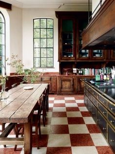 like everything but the floor...really don't like the floor. Cool light kitchen, window, wood cabinets