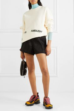 Black + Pyer Moss mesh, rubber and leather slip-on sneakers Prada Clutch, Kids Shows, Personal Shopping, Black Mesh, Slip On Sneakers, Leather Slip Ons, Reebok, Short Dresses, Bodysuit