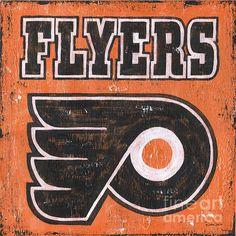 http://pixels.com/featured/vintage-flyers-sign-debbie-dewitt.html #hockey, #artwork