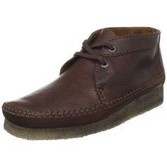 Clarks Men's Weaver Boot Clarks. $69.99. Crepe sole. Men's Clarks Weaver 75552 Boot Brown Suede. leather