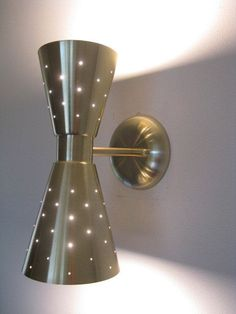 Image result for retro cone shaped wall sconce