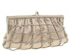 Wedding Bridal Clutchs ♥ Ivory/Champagne Franchi Handbags Clutch With Rhinestone
