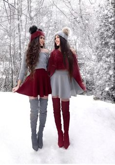 Image may contain: 2 people, people standing and outdoor Cute Skirt Outfits, Twin Outfits, Teen Fashion Outfits, Cute Casual Outfits, Look Fashion, Girl Fashion, Girl Outfits, Matching Outfits Best Friend, Best Friend Outfits