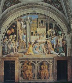 Raffaello - Incendio di Borgo - affreschi - 1514 - Stanza dell'Incendio di Borgo - Musei Pontifici, Città del Vaticano