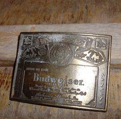 Vintage Budweiser belt buckle. $22.00, via Etsy.