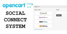 OpenCart Social Connect System . Social Connect System for OpenCart help website owners to allow customers to login to their site using their third party site id easily.This plugin uses federated login. It allows users to login with their email address and password, and would replace that with federated login. It currently