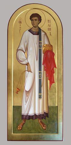 Св Филипп диакон St Philp diacon icon by hands of Daineko