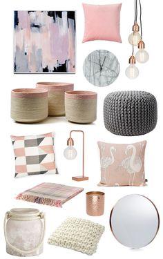 chambre rose et gris- quels sont les accessoires incontournables