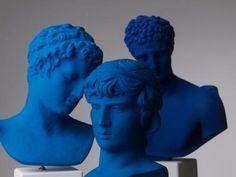 Sophia's Men in blue shades. #marathonboy #antinous #hermes #blue #shades #colors #sophiaenjoythinking #philosophy #interiordesign