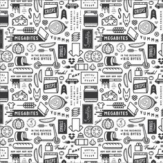 Scooters sandwich shop on behance patterns identidade, desig Food Wrapping Paper, Wrapping Paper Design, Food Packaging Design, Branding Design, Logo Design, Menu Design, Print Design, Sandwich Packaging, Fastfood Packaging