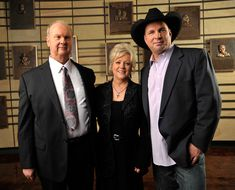 "On March 6, 2012, the Country Music Association revealed the newest inductees into the Country Music Hall of Fame. Pictured (l-r): Hargus ""Pig"" Robbins, Connie Smith, and Garth Brooks."