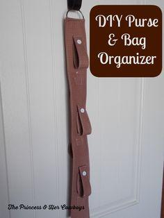 DIY Purse & Bag Organizer l The Princess & Her Cowboys