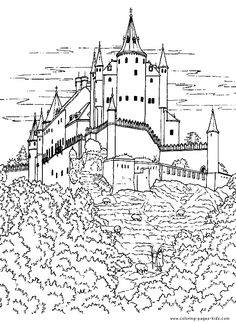 Middle Ages Worksheets Coloring See the category to find more printable coloring sheets. Also, you could use the search box to find what you want. Cute Coloring Pages, Printable Coloring Pages, Coloring Pages For Kids, Coloring Sheets, Coloring Books, Free Coloring, Photo Chateau, Castle Coloring Page, Magic Treehouse