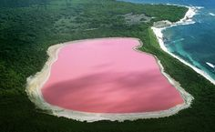 Lago Hiller, na Austrália