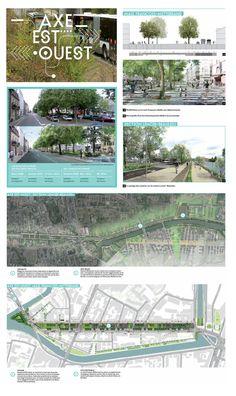 Axe Est Ouest visuels extraits de la plaquette de presentation du projet axe est ouest http://metropole.rennes.fr/politiques-publiques/grands-projets/l-axe-est-ouest-amenagements-urbains-du-mail-francois-mitterrand-a-beaulieu/