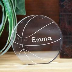 Personalized Engraved Basketball Keepsake |