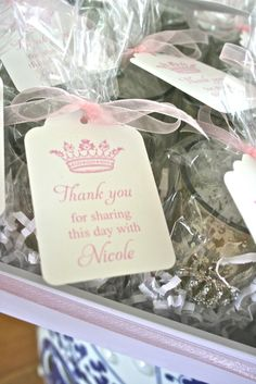 """Photo 18 of Bridal/Wedding Shower """"Eat Pink and Be Married"""" Bridesmaid Luncheon, Bridal Luncheon, Fiesta Shower, Shower Party, Baby Shower Princess, Princess Party, Bridal Shower Favors, Wedding Favors, Wedding Parties"""