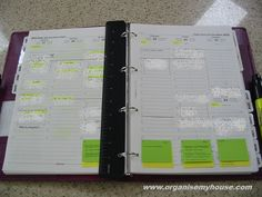 5. Diary pages - how i use my filofax