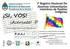 PRIMER REGISTRO NACIONAL DE ALUMNOS PERTENECIENTES A PUEBLOS ORIGINARIOS http://www.unsj.edu.ar/vista_not.php?id_noticia=3279 #UNSJ