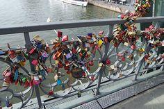 The Love Lock Bridge in Frankfurt