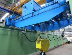Aida Project Double girder EOT crane 50/3.2t lifting capacity with two hoists on one crab, Span 22.50m and HOL 10m. This crane has been manufactured by Lee Machinery (Thailand) for AIDA; Japanese company who's activity in this plant is assembly of stamping presses. GH Cranes & Components