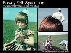 Jim Templeton took three photographs of his five year old daughter at Burgh Marsh, overlooking Solway Firth. The second photo captured a mysterious figure which has since. Scary Stories, Horror Stories, Ghost Stories, The Babadook, Ancient Mysteries, Unexplained Mysteries, Ghost Hauntings, Paranormal Photos, Unexplained Phenomena