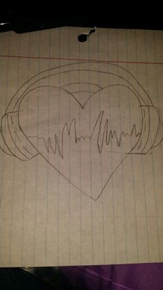 A heart with headphones! Should I color it?