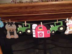 Farm Animal Party / Farm Birthday / Farm Baby Shower / Banner, Cupcake Toppers, Table Toppers