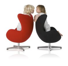 Child size reproduction of the 1958 Egg Chair by Arne Jacobsen.