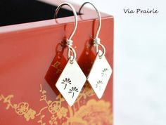 Japanese Flower Tree Flower Tree earrings Dandelion by ViaPrairie
