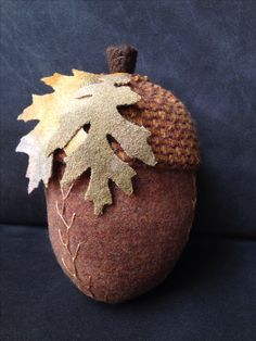 Wool acorn pincushion