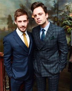 """kittyseb: """"Sebastian Stan and Will Malnati photographed by Billy Farrell at Esquire's Style Mavericks of The Year on November 30, 2016 in New York City. """""""