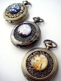 I'm obsessed with pocket watches...    Three Groomsmen Gifts  Vintage Photo Pocket Watch by jerseymaids, $165.00