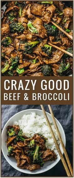 easy beef and broccoli recipe, slow cooker, healthy, authentic Chinese recipe, simple, stir fry, lunch, dinner, steak, rice via savory tooth