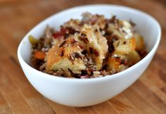 Wild Rice and Creamy Goat Cheese Stuffing | Mel's Kitchen Cafe