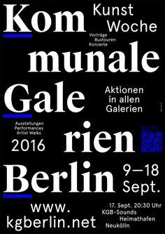 Die KGB-KUNSTWOCHE der Kommunalen Galerien Berlin, 09.-18.09.2016