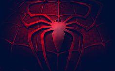 Download wallpapers Spider-Man, logo, 3d, art, darkness