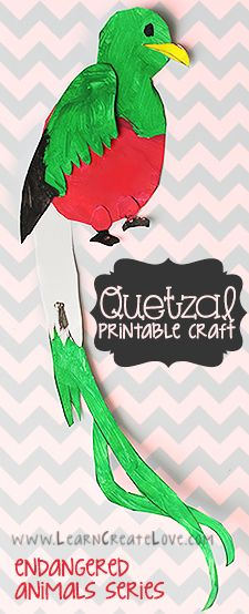 Quetzal Printable Craft | LearnCreateLove.com