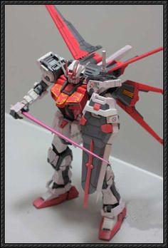 GAT-X105+AQME-X01 Aile Strike Gundam Ver.5 Free Paper Model Download - http://www.papercraftsquare.com/gat-x105aqme-x01-aile-strike-gundam-ver-5-free-paper-model-download.html