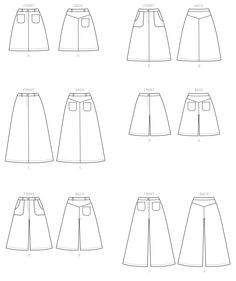 M7475 | McCall's Patterns - Misses' Flared Skirts, Shorts and Culottes
