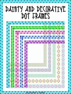 {Freebie} Dainty and Decorative Dot Frames {8.5 x 11} Clip