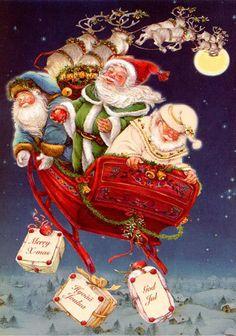 Lisi Martin - Santa , St Nick & Father Christmas together                                                                                                                                                      More