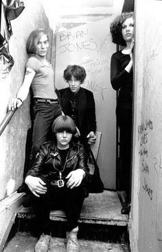 Punk group The Cramps pose for a portrait at CBGB in 1977 in New York City New York