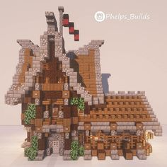 Minecraft Images, Cute Minecraft Houses, Minecraft House Tutorials, Minecraft Castle, Minecraft House Designs, Amazing Minecraft, Minecraft Tutorial, Minecraft Creations, Minecraft Crafts