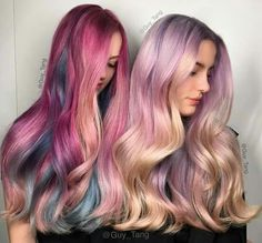 Pastel hair by Guy Tang professional hairspecialist.