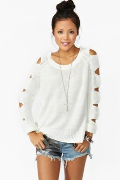 Slasher Knit in Ivory
