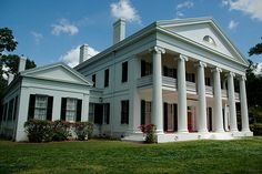 Built for the Pugh family in 1845 and designed by architect Henry Howard, the house was originally part of a sugar plantation Old Southern Homes, Southern Plantation Homes, Southern Mansions, Southern Style, Plantation Houses, Southern Charm, Abandoned Houses, Old Houses, Greek Revival Architecture