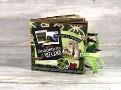Ireland Scrapbook - Ireland Travel Vacation Mini Scrapbook - Ireland Paper Bag Album